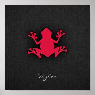 Crimson Red Frog Poster