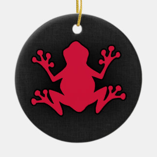 Crimson Red Frog Round Ceramic Decoration