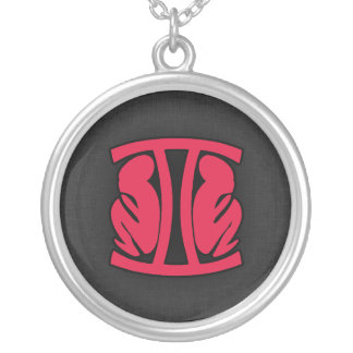 Crimson Red Gemini Necklace