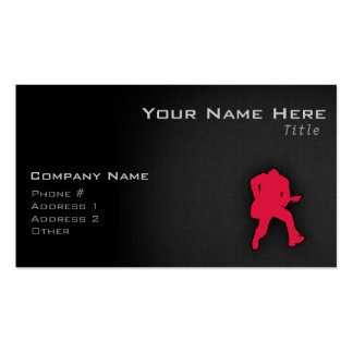 Crimson Red Guitar Player Pack Of Standard Business Cards