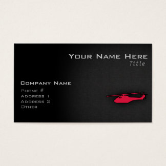 Crimson Red Helicopter Business Card