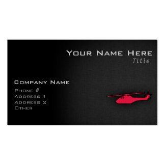 Crimson Red Helicopter Pack Of Standard Business Cards