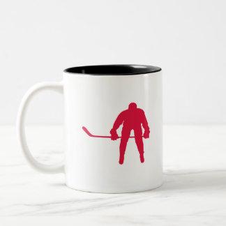Crimson Red Hockey Two-Tone Coffee Mug
