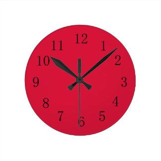 Crimson Red Kitchen Wall Clock