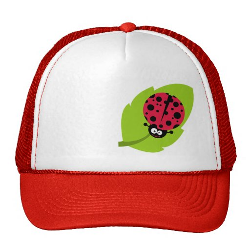 Crimson Red Ladybug Mesh Hats