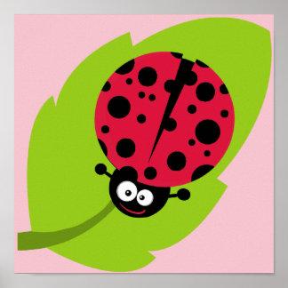 Crimson Red Ladybug Poster
