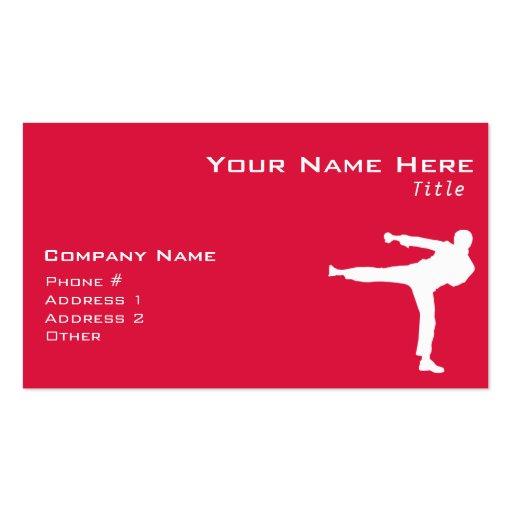 Crimson Red Martial Arts Business Card