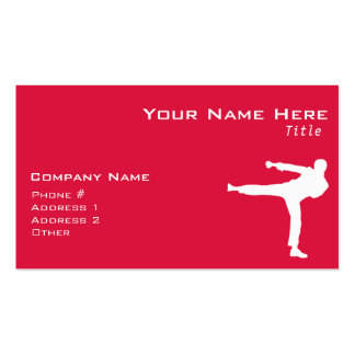 Crimson Red Martial Arts Pack Of Standard Business Cards