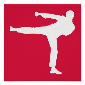 Crimson Red Martial Arts Print