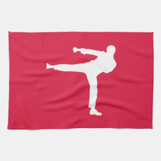 Crimson Red Martial Arts Tea Towel
