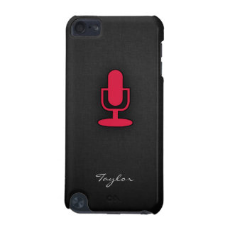 Crimson Red Microphone iPod Touch (5th Generation) Case