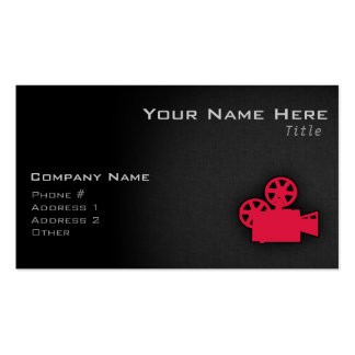 Crimson Red Movie Camera Pack Of Standard Business Cards