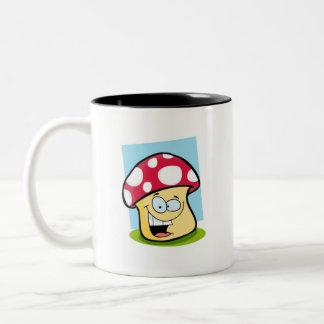 Crimson Red Mushroom Two-Tone Coffee Mug