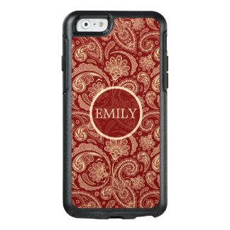Crimson Red Paisley OtterBox iPhone 6/6s Case