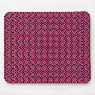 Crimson Red Pattern Mouse Pad
