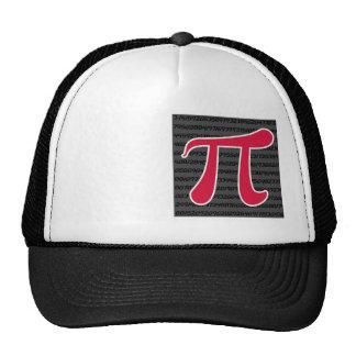 Crimson Red Pi Symbol Cap