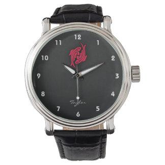 Crimson Red Pisces Wrist Watch