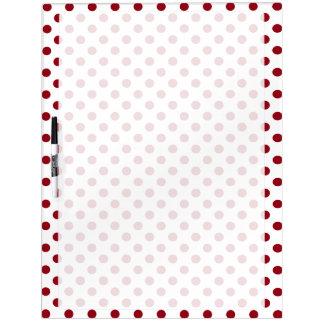 Crimson Red Polka Dots Circles Dry Erase Boards