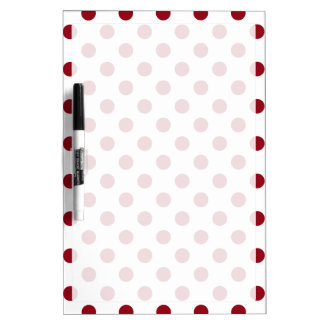 Crimson Red Polka Dots Circles Dry Erase Whiteboards