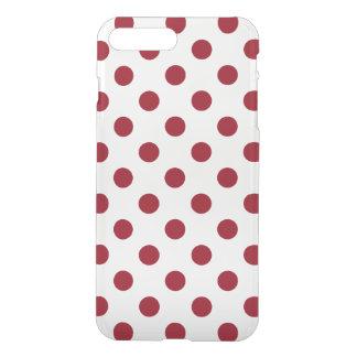Crimson Red Polka Dots Circles iPhone 7 Plus Case