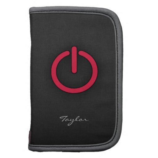 Crimson Red Power Button Planner
