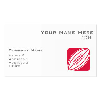 Crimson Red Rugby Pack Of Standard Business Cards