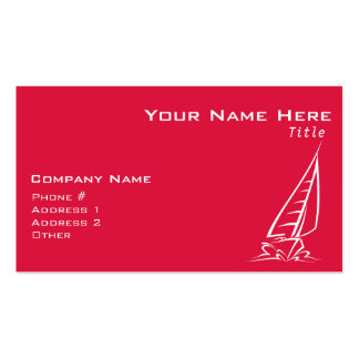 Crimson Red Sailing Pack Of Standard Business Cards