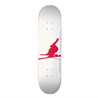 Crimson Red Snow Ski Skateboard