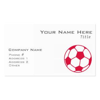 Crimson Red Soccer Ball Pack Of Standard Business Cards