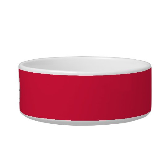 Crimson red solid colour with monogram bowl