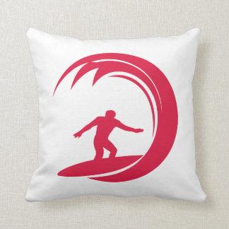 Crimson Red Surfing Cushion