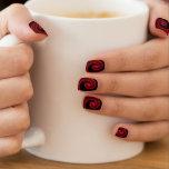 Crimson Red Swirl Minx Nails