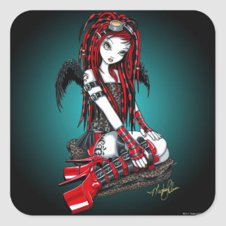 """Crimson"" Red Tattoo Cyber Goth Angel Stickers"