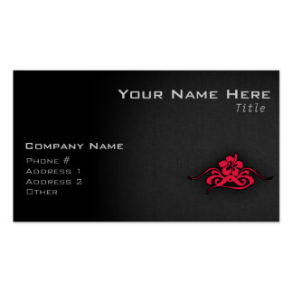 Crimson Red Tribal Hibiscus Pack Of Standard Business Cards