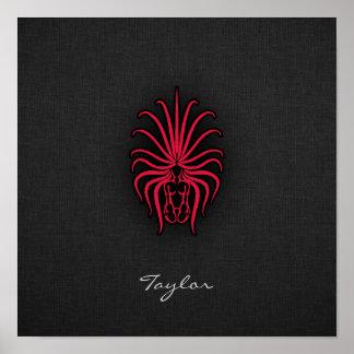 Crimson Red Virgo Poster