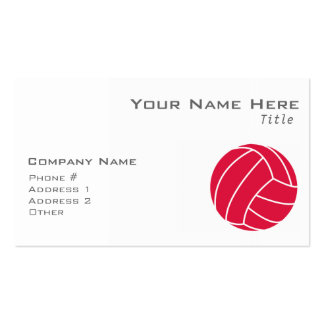 Crimson Red Volleyball Pack Of Standard Business Cards