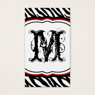 Crimson Red Zebra Print Pattern Business Card