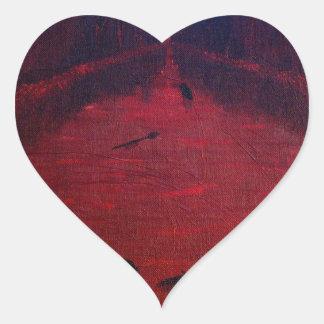 Crimson River Heart Stickers