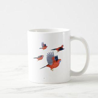 Crimson Rosella Parrot Flock Mug