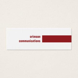 Crimson Simple Business Card
