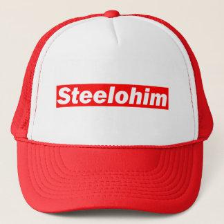 Crimson Sk8 logo snapback trucker cap