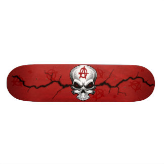 Crimson Skull Anarchy Skateboard