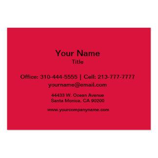 Crimson Solid Color Business Card