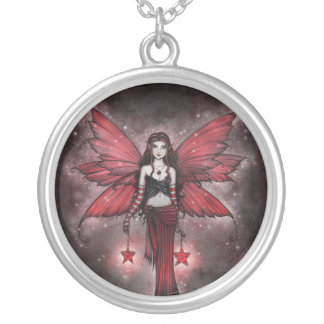 Crimson Star Fairy Necklace by Molly Harrison