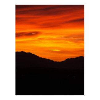 Crimson sunset postcard