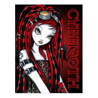 Crimson Tattoo Cybergoth Angel Postcard