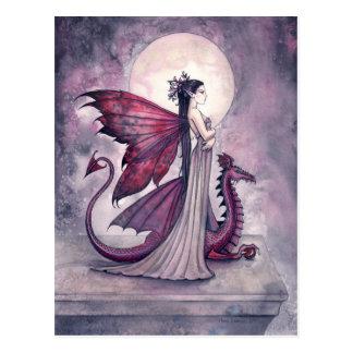 Crimson Twilight Fairy Dragon Postcard