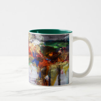 Crimson Two-Tone Coffee Mug