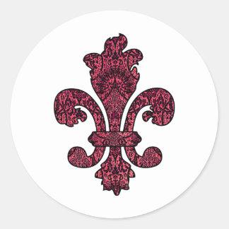 Crimson Wine Goth Round Sticker