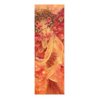 Crimson Wings Bookmark Pack Of Skinny Business Cards